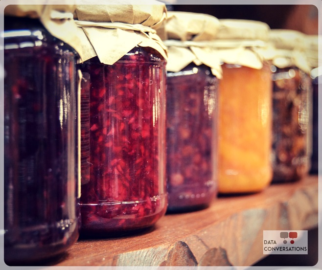Image showing jars of preserved produce.