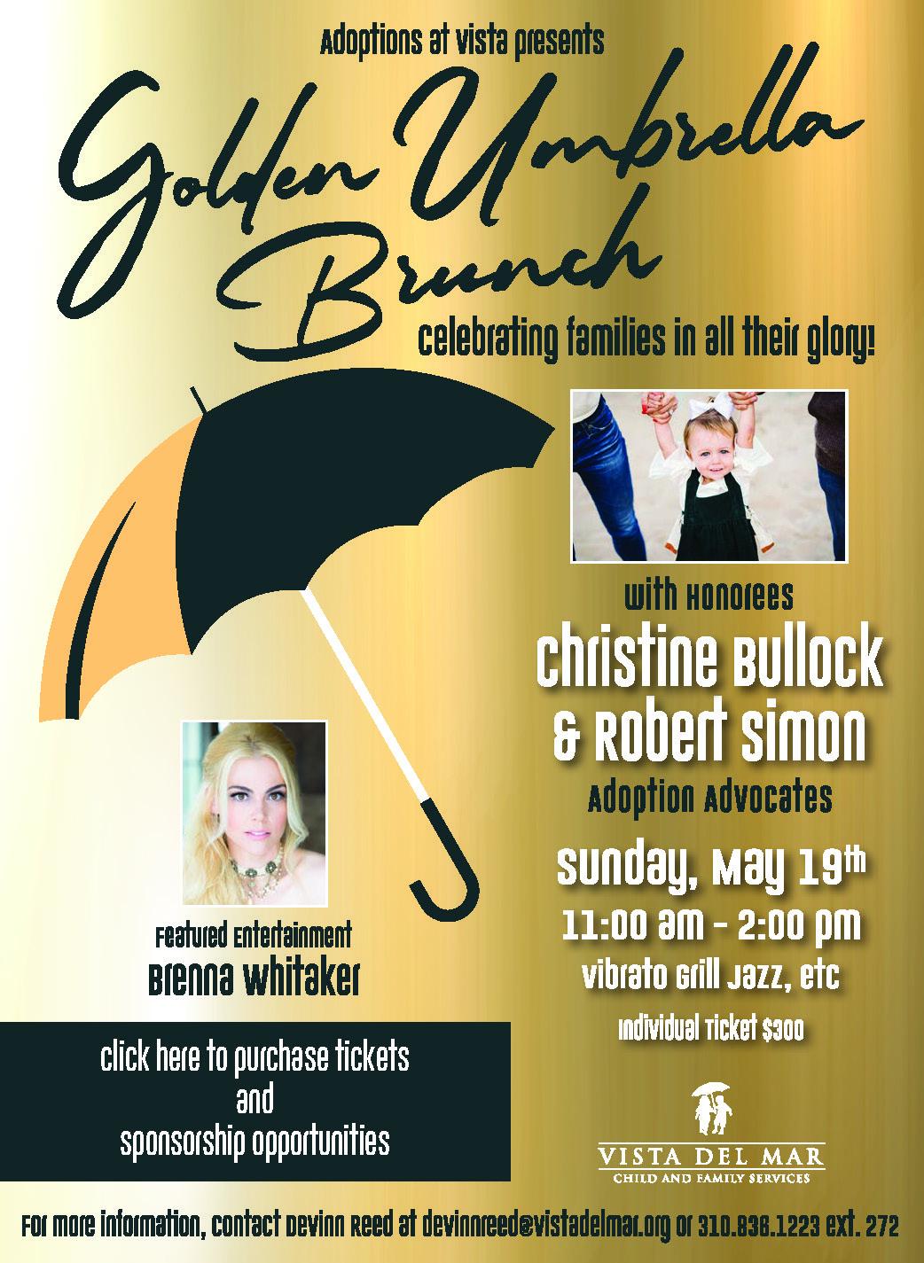 Golden Umbrella Brunch Flyer