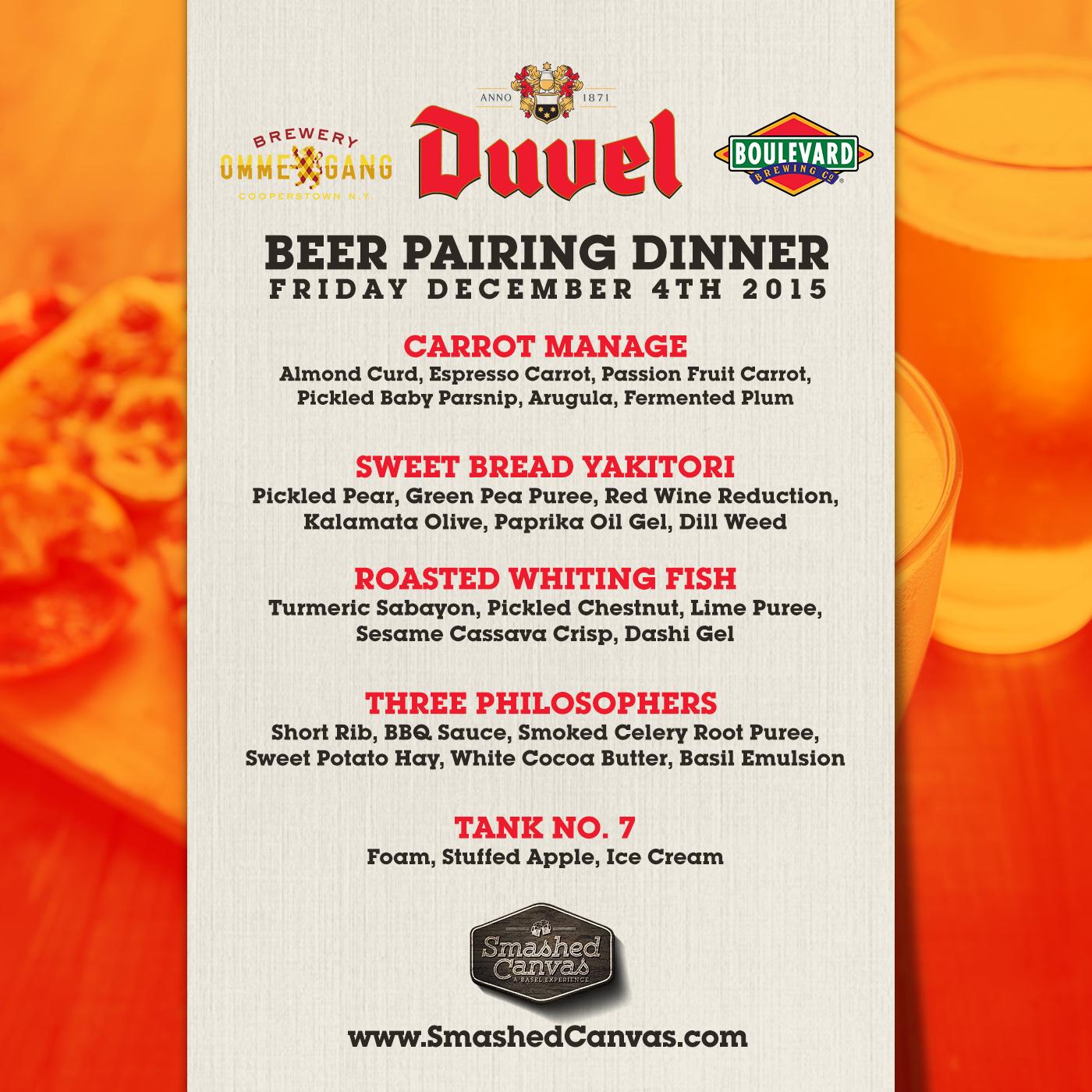 Basel Beer Dinner