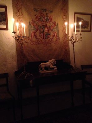 The candlelit Countess's Writing Room
