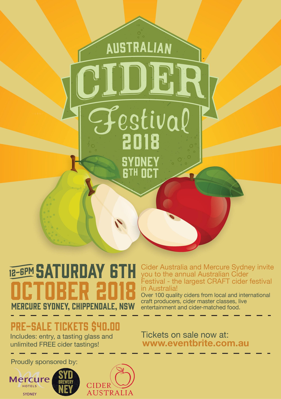 Australian Cider Festival Poster