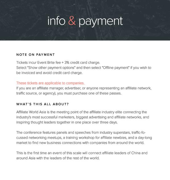 eventbrite company info payment details