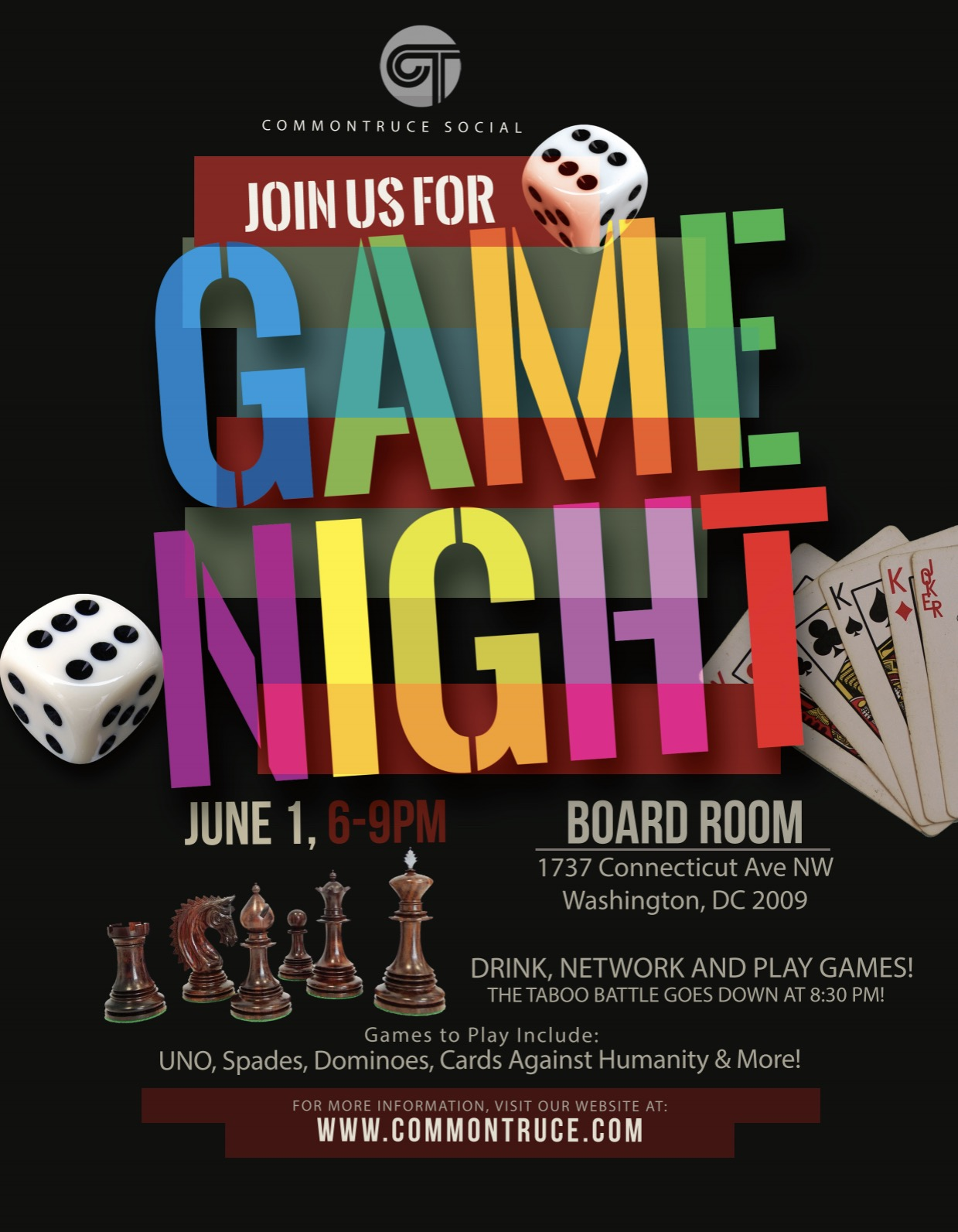 commontruce  game night tickets  thu  jun 1  2017 at 6 00