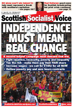 A recent issue of the Scottish Socialist Voice