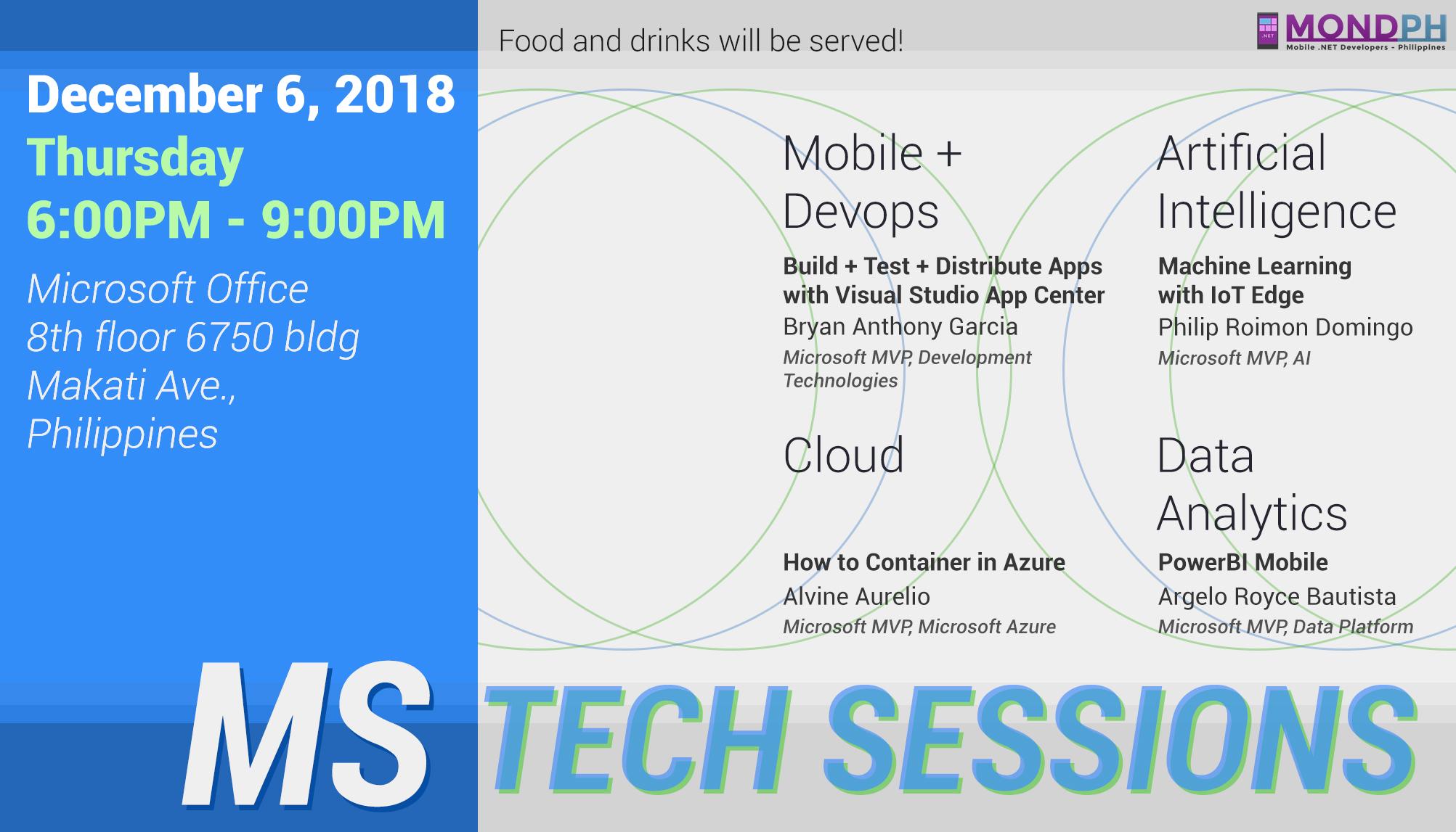 microsoft tech december session 6 dec 2018