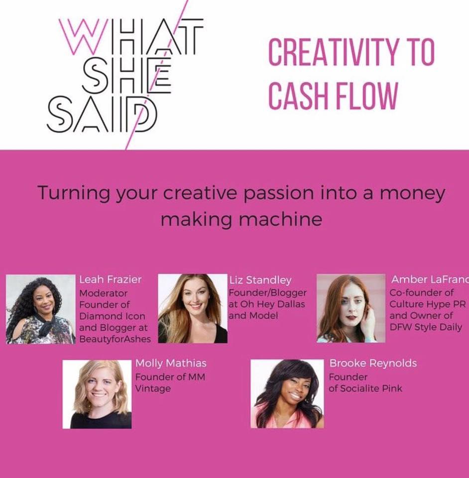 Creativity To Cash Flow Panel