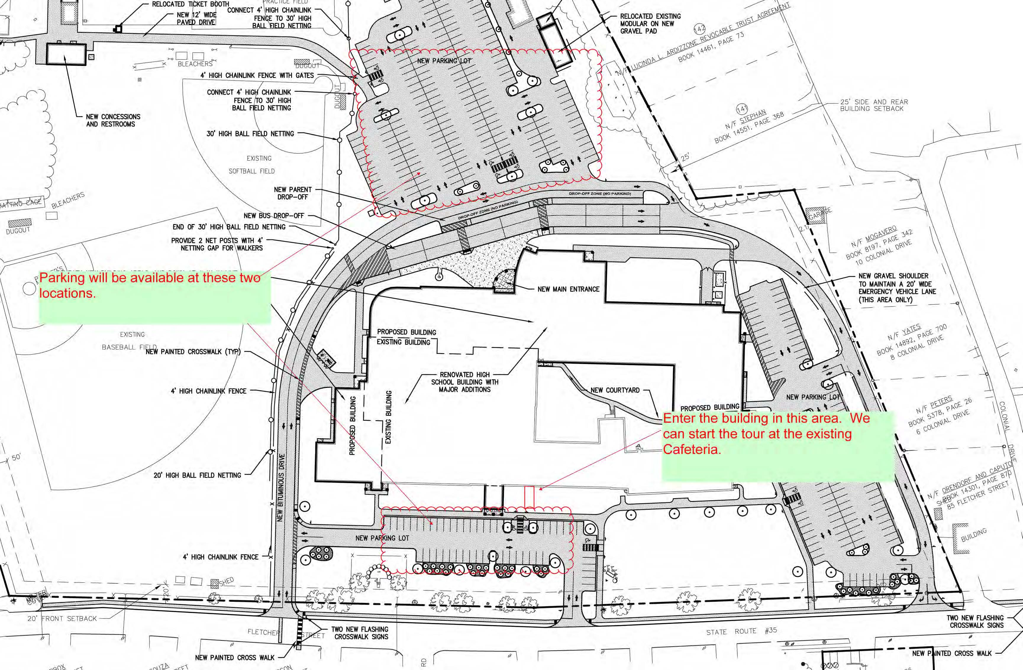 Map Kennebunk HS parking