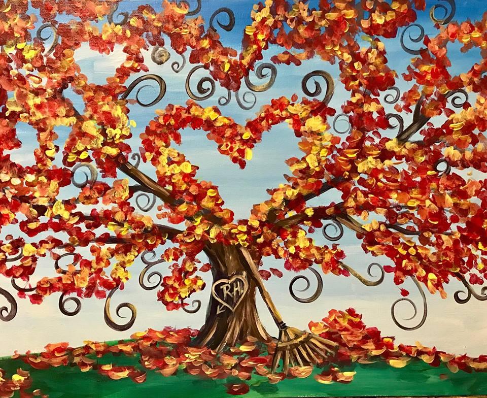 Fall Themed Acrylic on Canvas