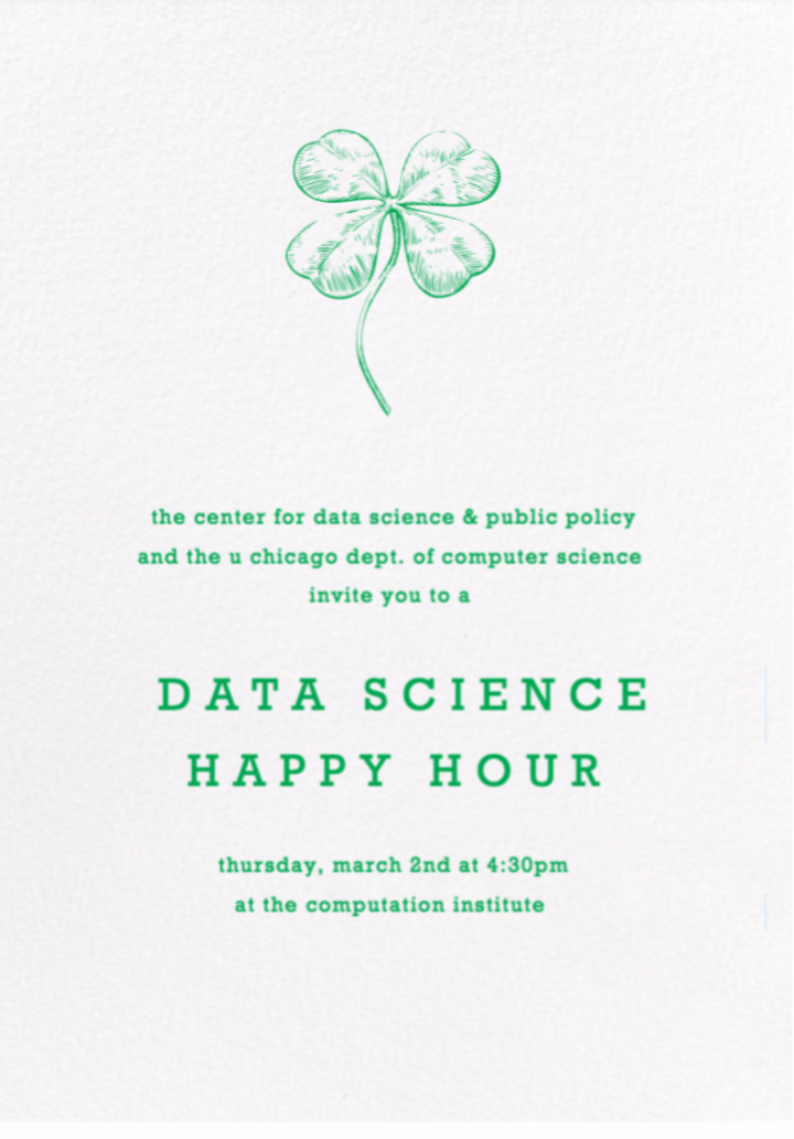 March Data Science Happy Hour Invite