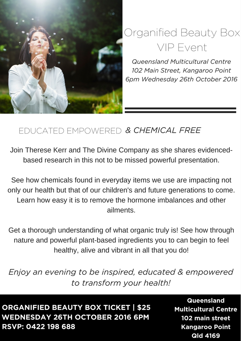 The Chemical Free Event - The Divine Company - Organified Beauty Box - Therese Kerr