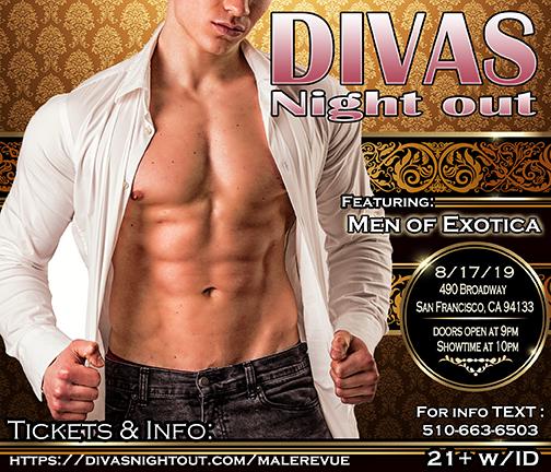 divas night out Male Revue San francisco August 2019-Men of Exotica