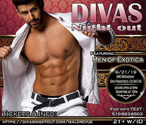 divas night out Male Revue San francisco September 2019-Men of Exotica