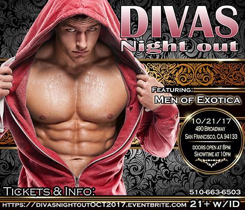 Divas Night out 10-21-17 with Men of Exotica