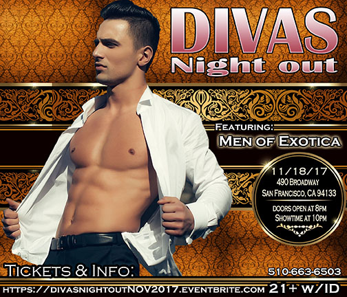 Divas Night out Male Revue 11-18-17 with Men of Exotica