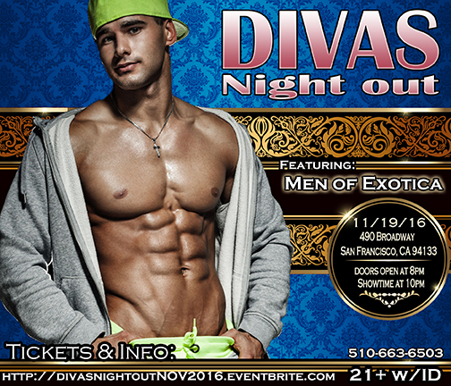 Divas Night out 11-19-16 with Men of Exotica