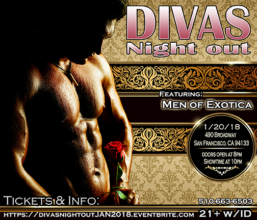 Divas Night out Male Revue 1-20-18 with Men of Exotica