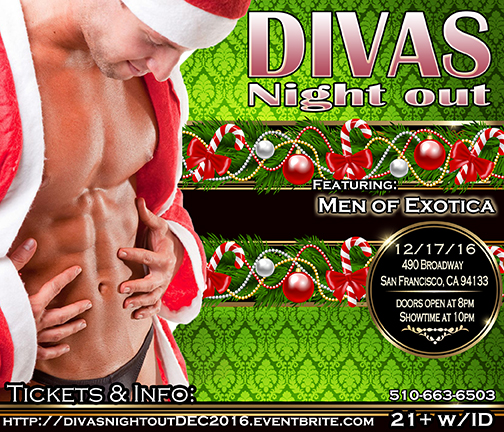 Divas Night out 12-17-16 with Men of Exotica