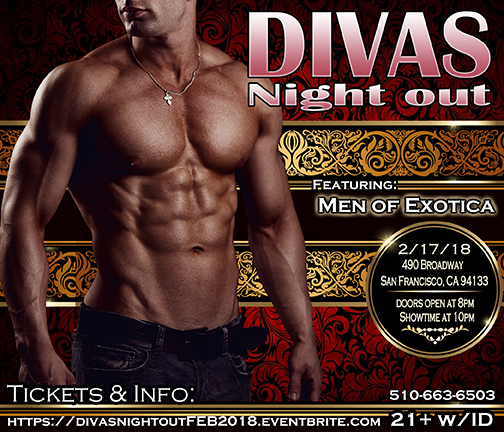 Divas Night out Male Revue 2-17-18 with Men of Exotica