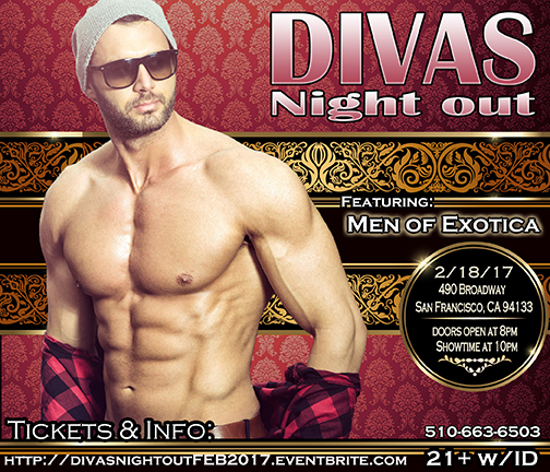 Divas Night out 2-18-17 with Men of Exotica