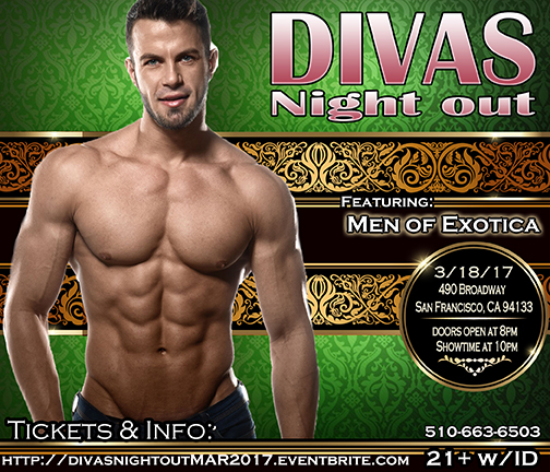 Divas Night out 3-18-17 with Men of Exotica