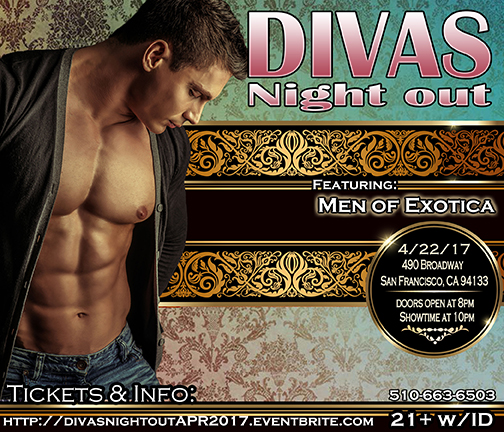 Divas Night out 4-22-17 with Men of Exotica