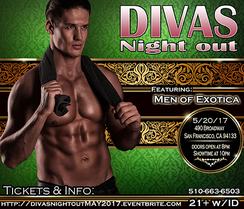 Divas Night out 5-20-17 with Men of Exotica