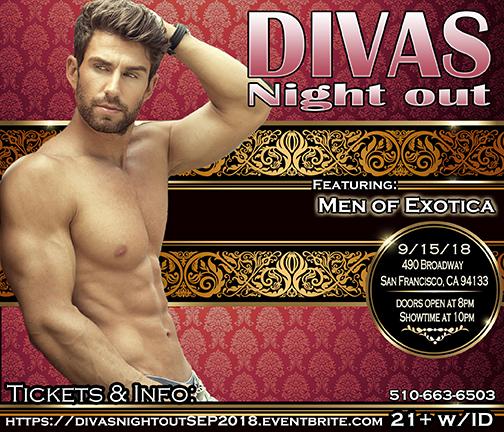 divas night out Male Revue San francisco September 2018
