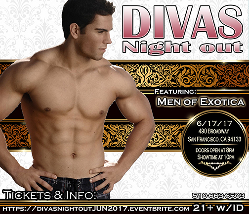 Divas Night out 6-17-17 with Men of Exotica