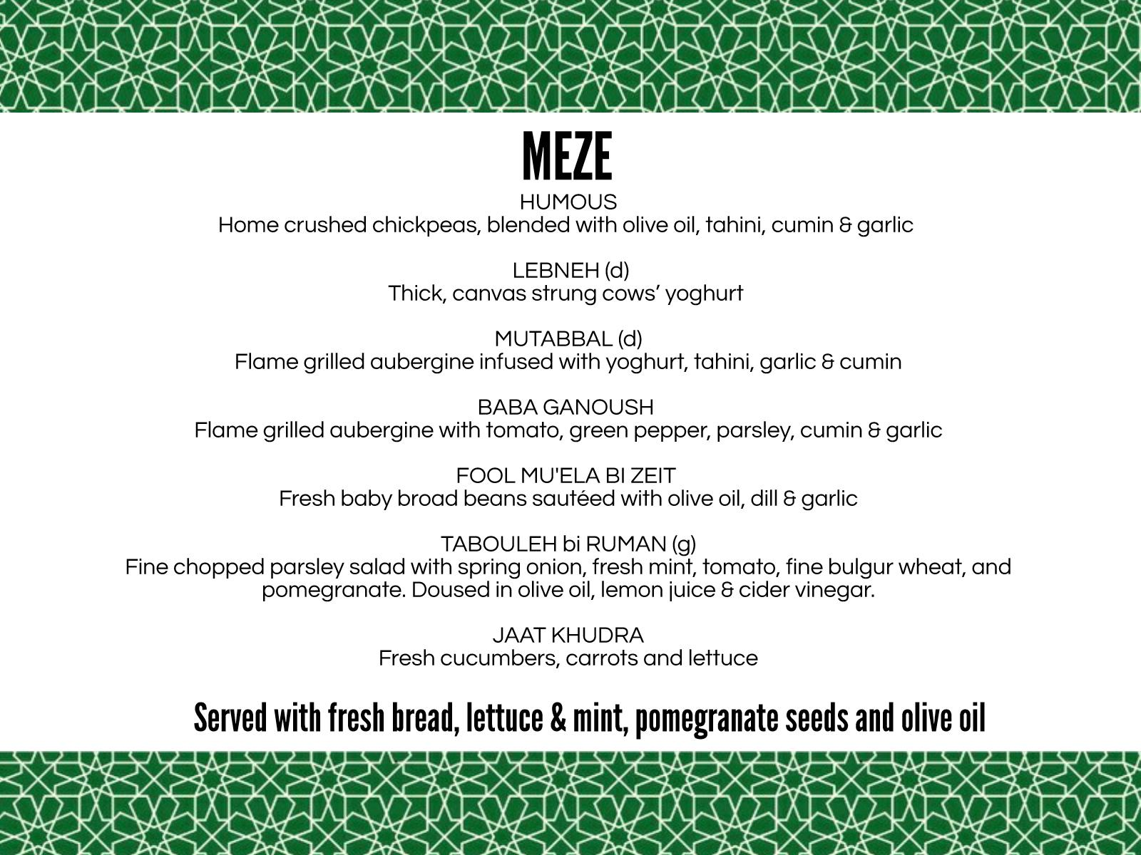 Damascus Chef Meze