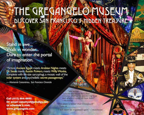 The Gregangelo Museum Logo and Flyer