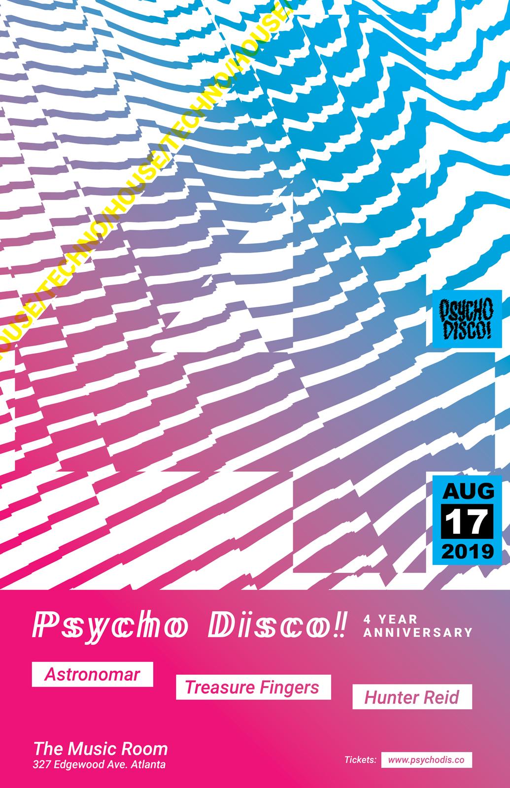 Psycho Disco! Aug 17 Poster