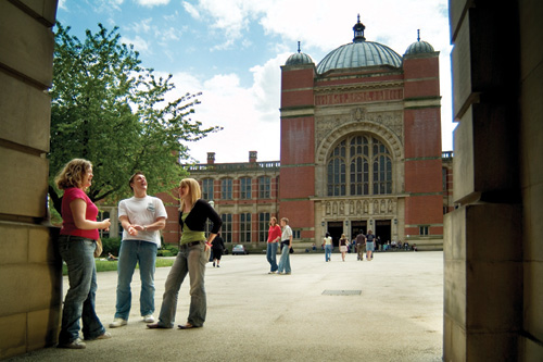 Students outside the Aston Webb Building