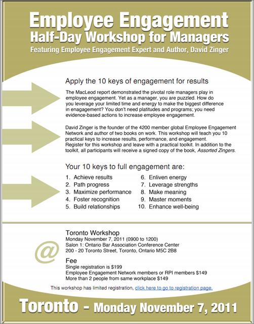 Toronto Employee Engagement Workshop