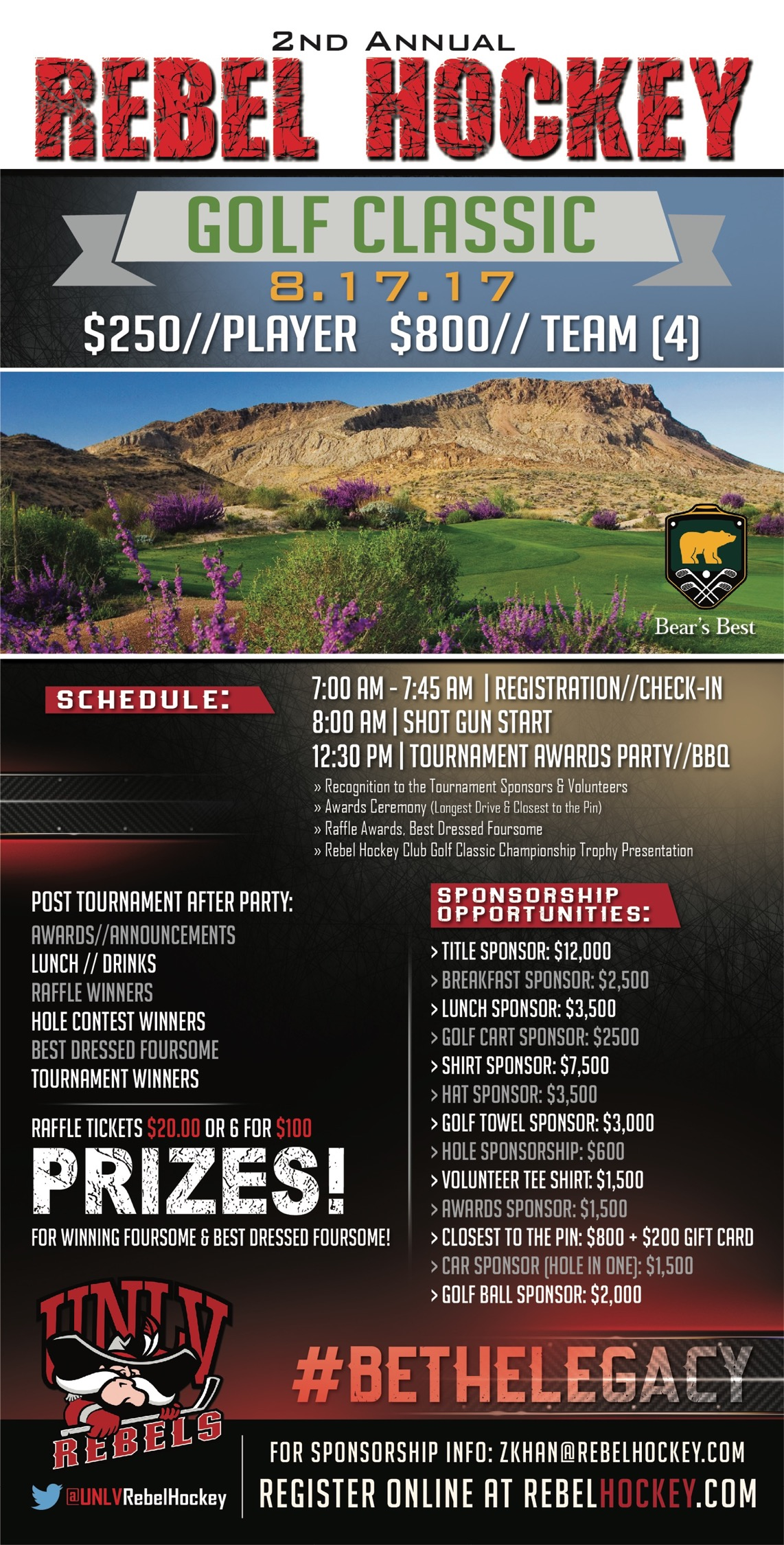 2nd Annual UNLV Hockey Golf Classic 2017