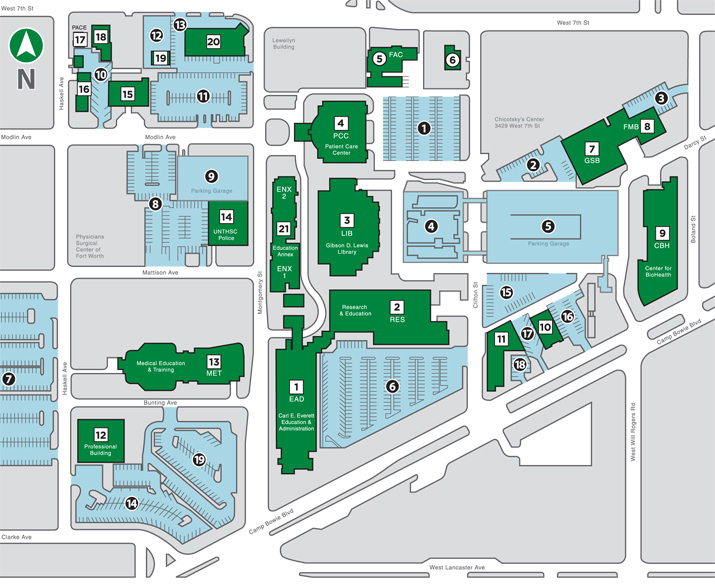 UNT campus map