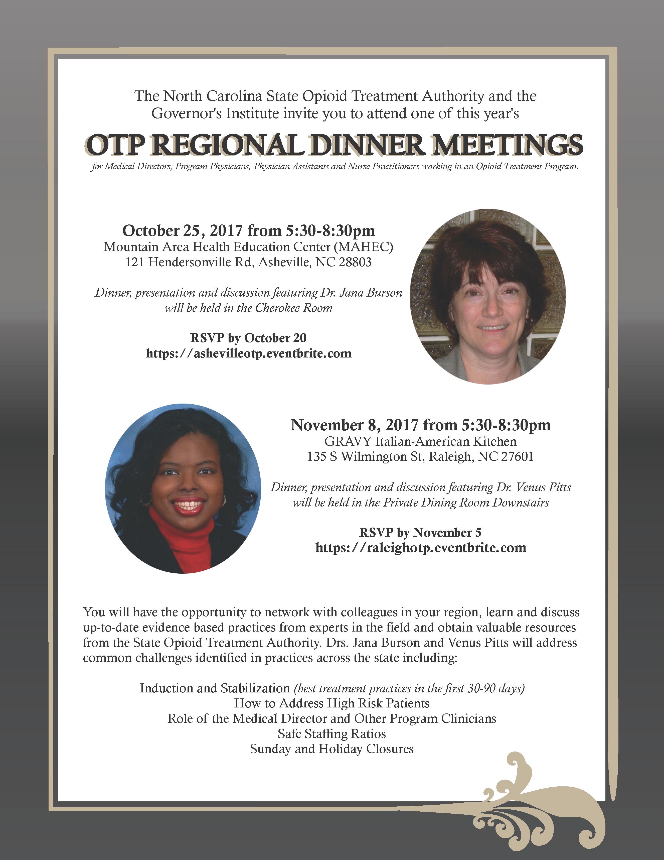 OTP Regional Dinner Meeting