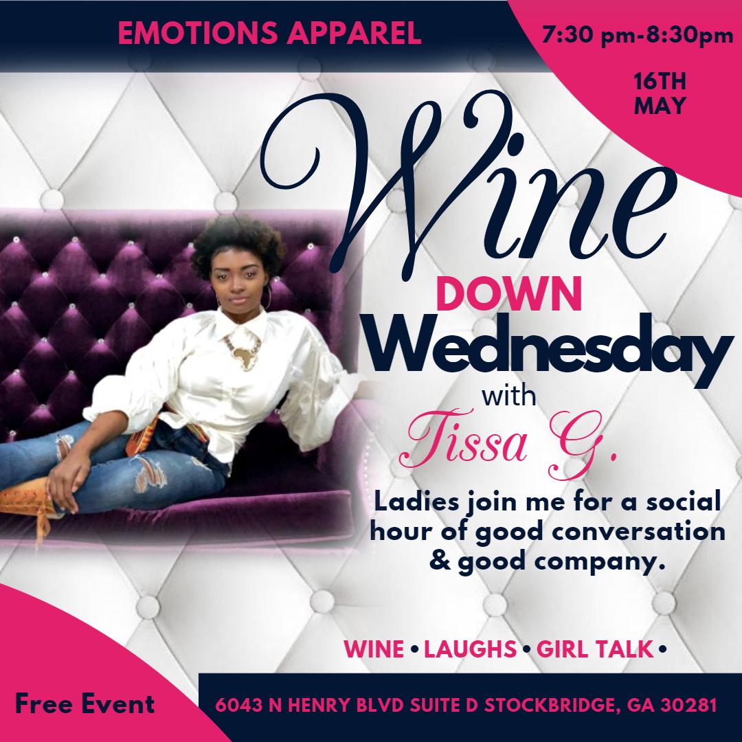 Tissa G wine down wednesday