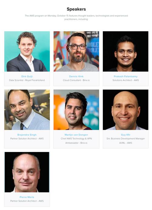 Speakers AWS Day GoDataFest
