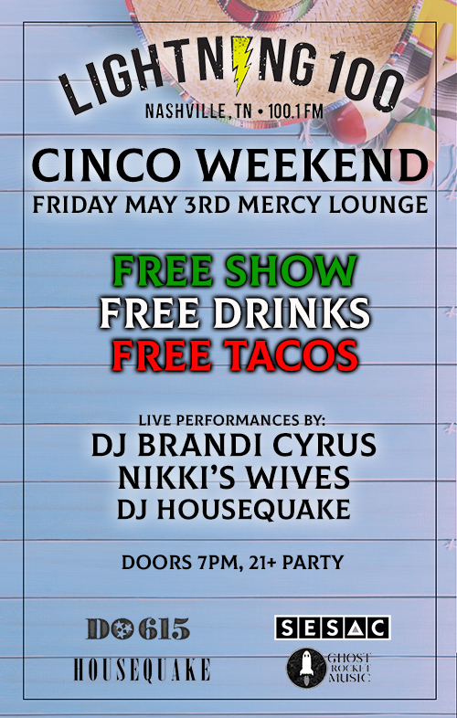 FREE PARTY, FRI MAY 3RD - Cinco Weekend Mercy Lounge