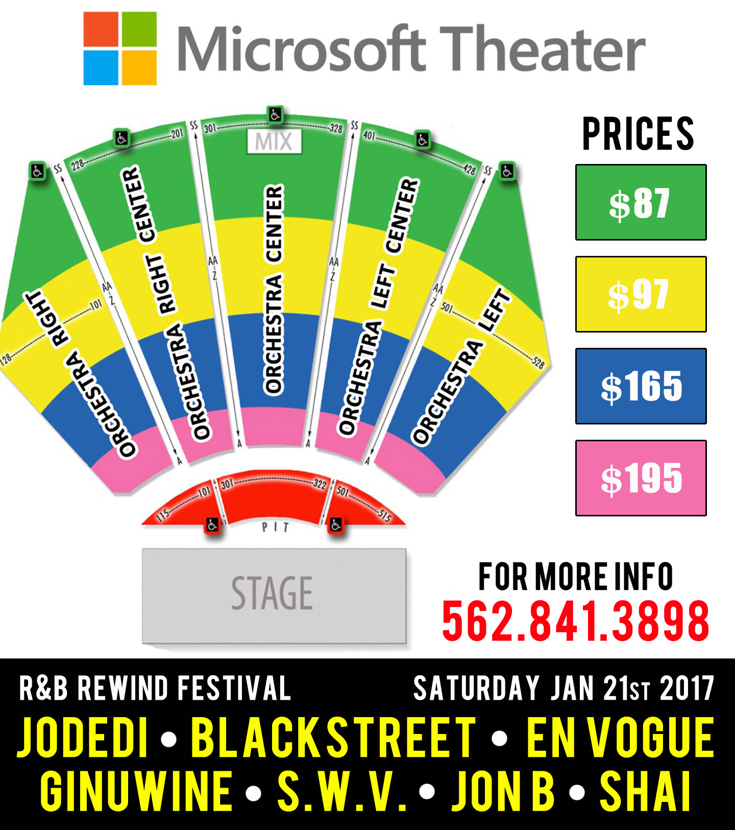 Microsoft Theater Seating Chart Rows Elcho Table