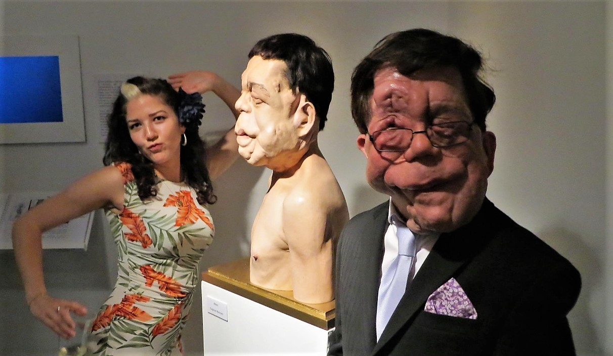 Adam Pearson actor and Dagmar bennett sculptor