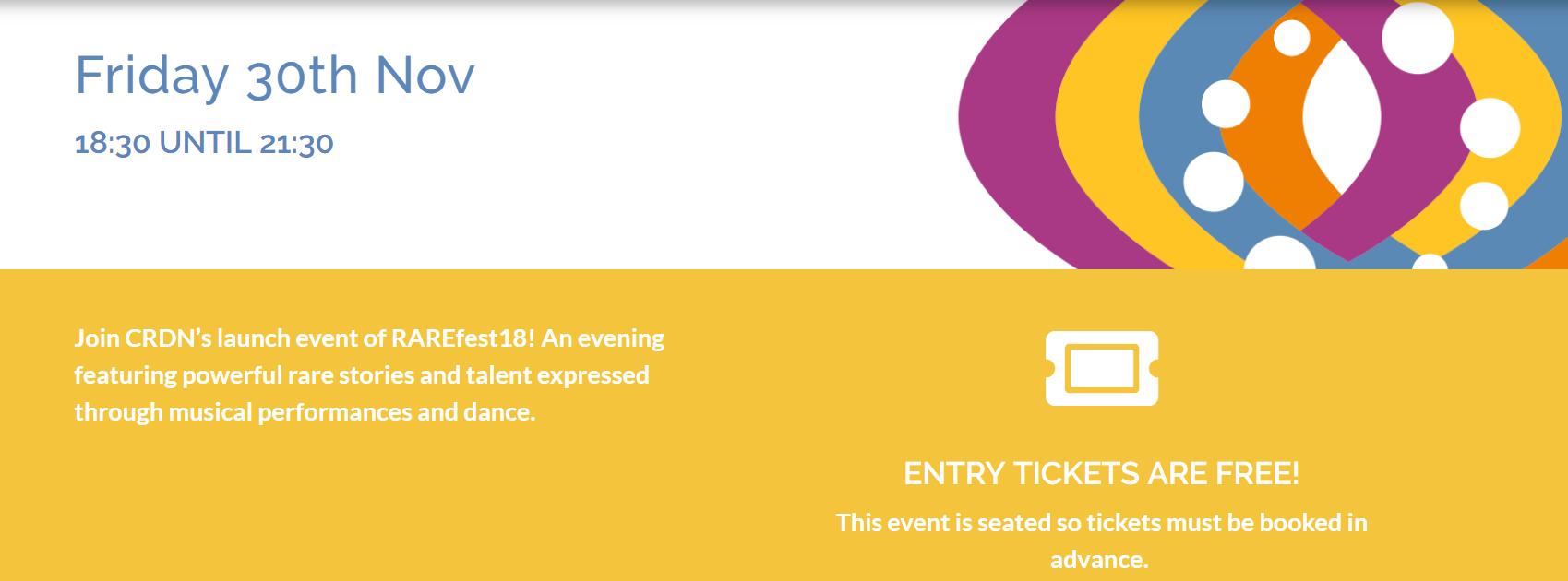 RAREfest Friday 30 Nov - tickets