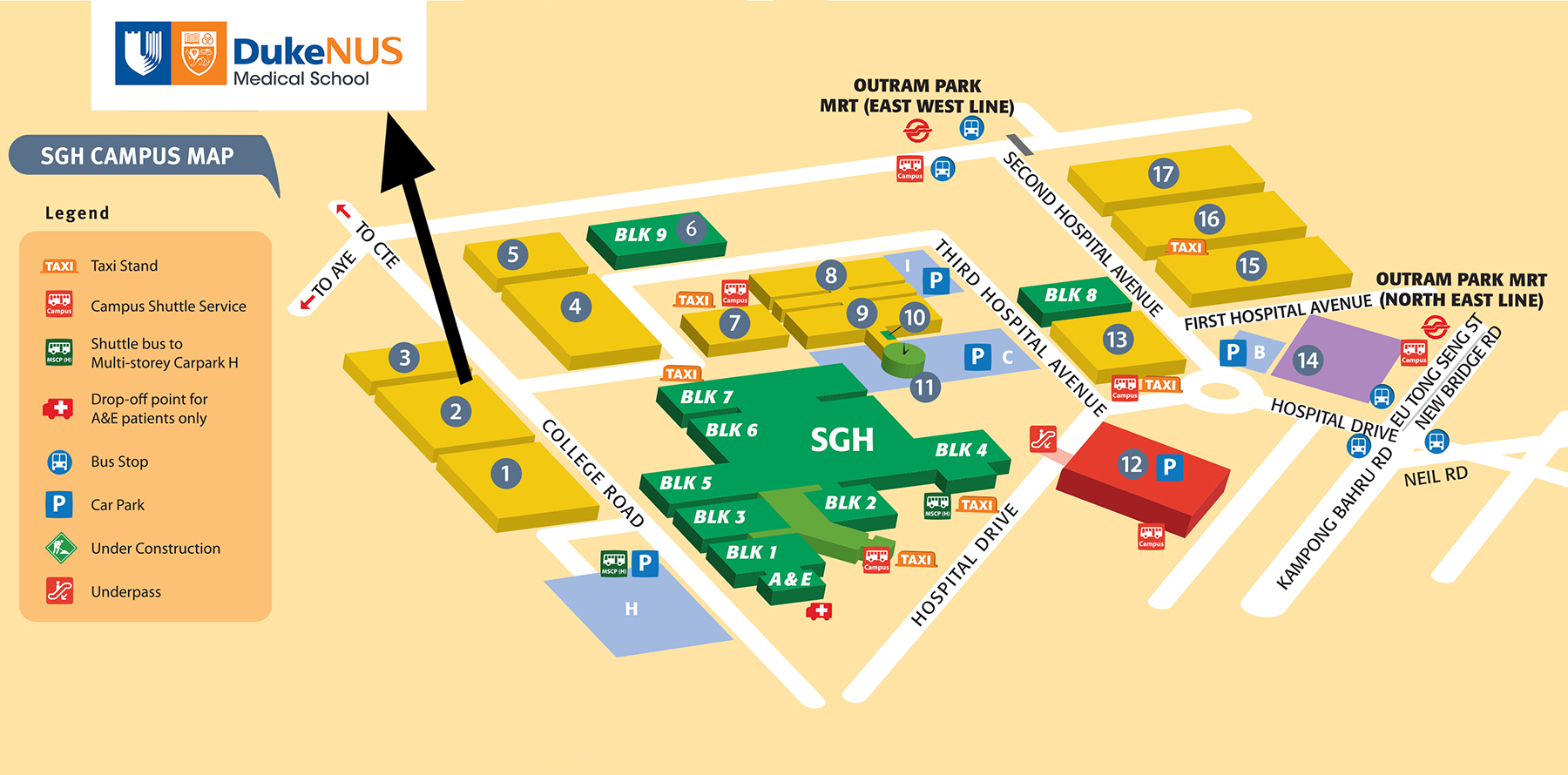 Duke NUS Location Map