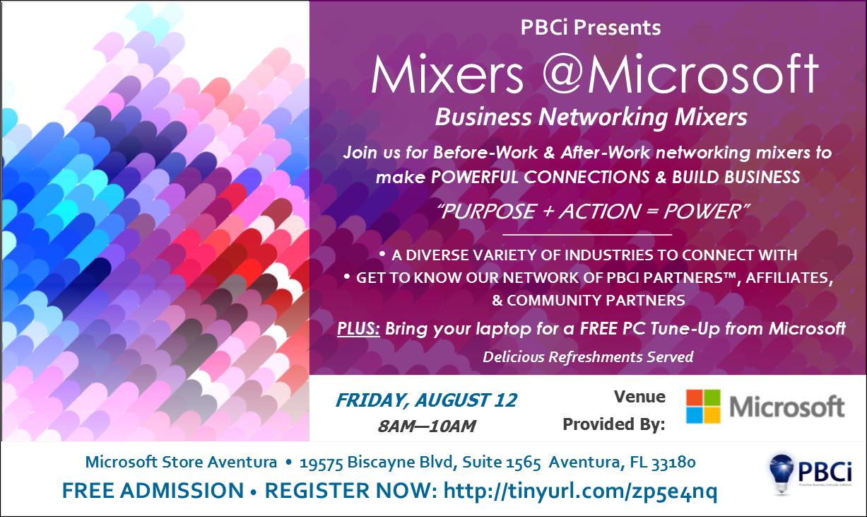 8-12 Mixer @Microsoft