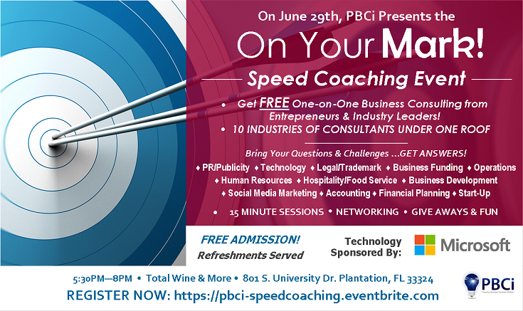 On Your Mark Speed Coaching Flyer