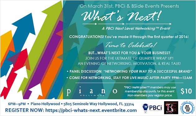 PBCi What's Next Flyer