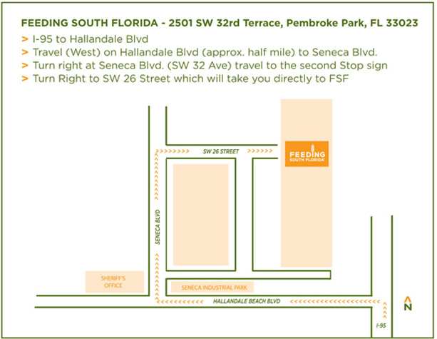 Directions to the Main Warehouse
