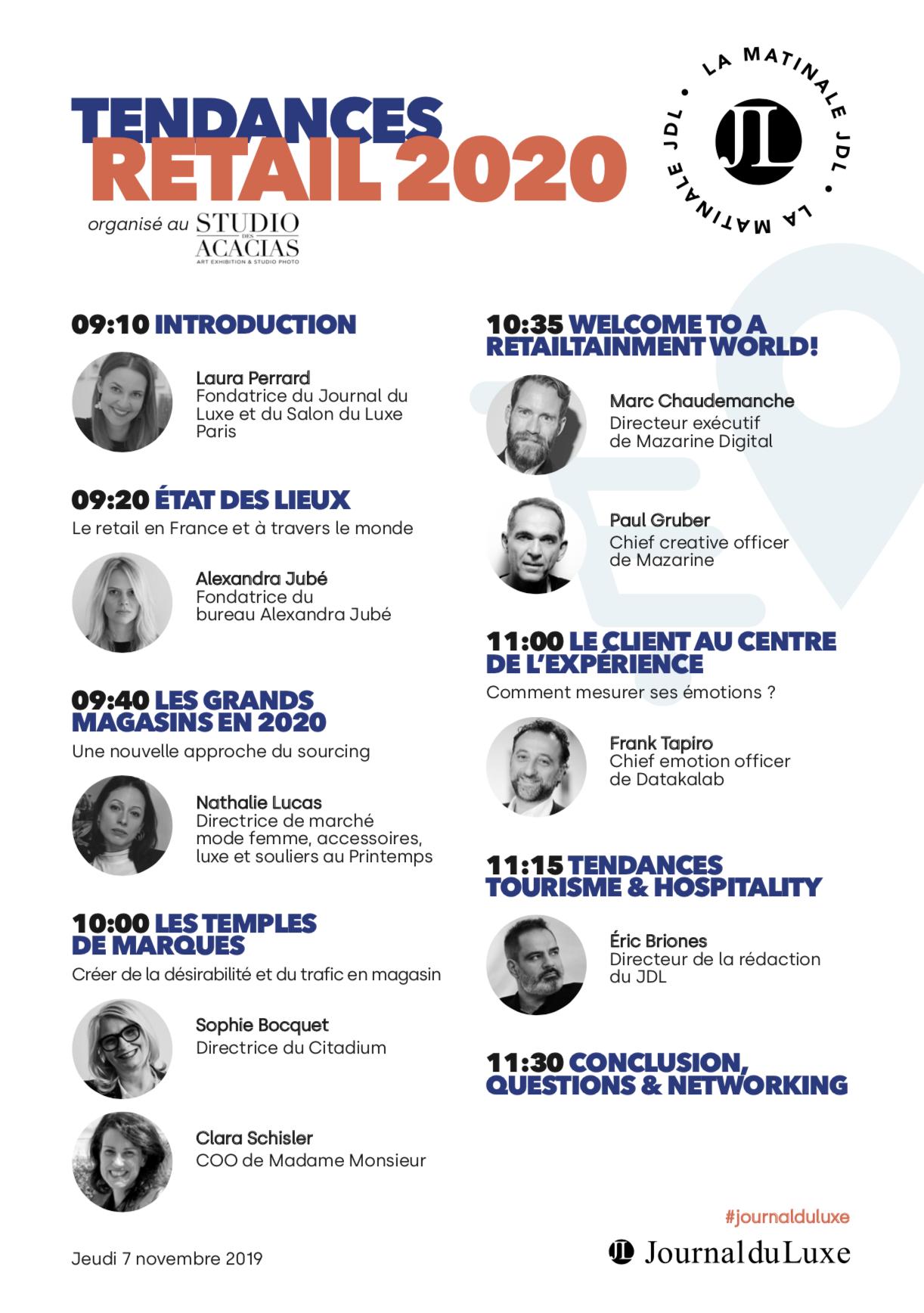 Programme Tendances Retail Journal du Luxe