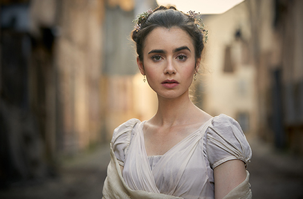 Lily Collins (Rules Don't Apply, Love, Rosie), in the role of Fantine.