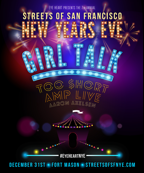 Streets of SF NYE with Girl Talk, Too Short, Amp Live, & Aaron Axelsen